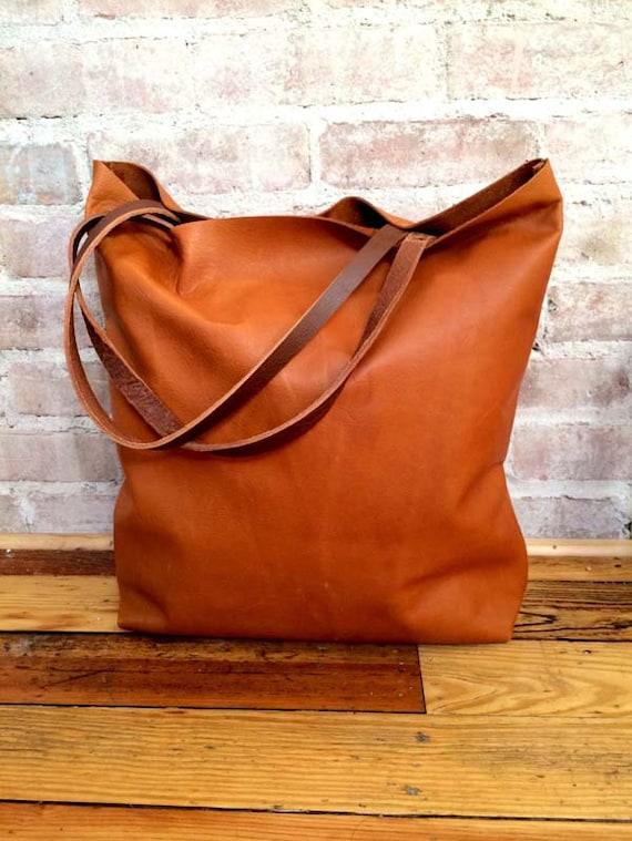 grand camel marron cuir tote bag sac en cuir brun. Black Bedroom Furniture Sets. Home Design Ideas