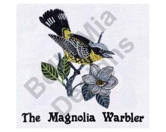 Bird - Machine Embroidery Design, Magnolia Warbler