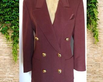 Escada by Margaretha Ley Rust Wool Vintage Blazer size 36 (4)