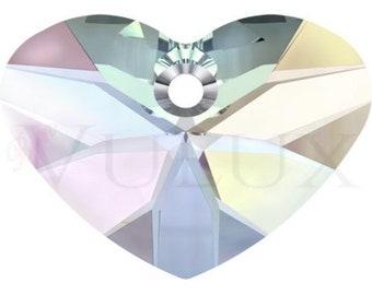 Wholesale Swarovski Crazy 4 U Heart 6260 - 17 MM Aurore Boreale (AB)
