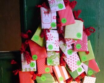 CUSTOM Tea Advent Calendar Assorted Wall Hanging Door Decoration Gift