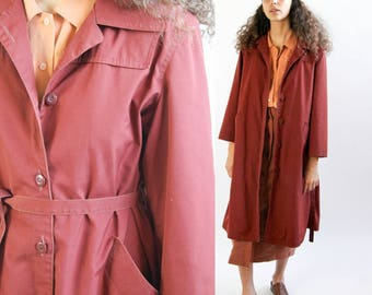 night stroll -- vintage 1970s London Fog trench coat -- S/M petite