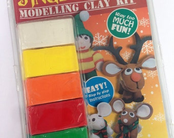 DIY Christmas Polymer Clay Kit - kids sculpey modelling kit 3