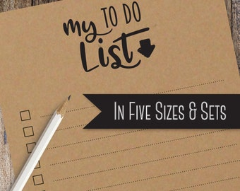 To Do List Note Pad | Stationery Note Pad | Available printed on Kraft Brown with Black Ink or White Paper in 3 Color Choices