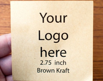 2.75 inch brown kraft paper - sticker printing, branding, logo printing, label printing, product label, product packaging, product design