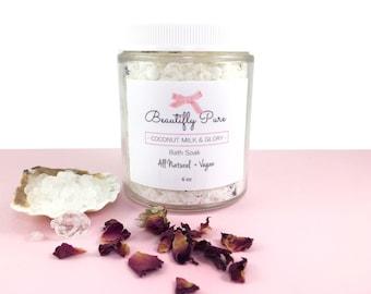 Coconut Milk & Glory Bath Soak | All Natural + Vegan (6 oz)