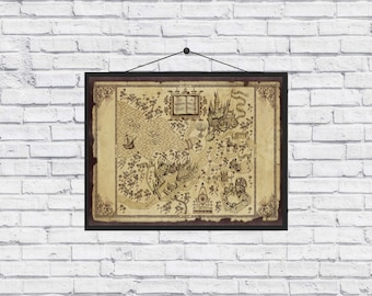 Harry Potter The Wizarding World Map poster