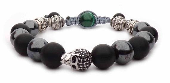 The silver skull bracelet