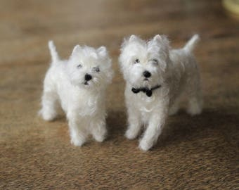 Made to order custom needle felted dog, memorial, portrait, wool sculpture, Westie or your dog's breed, 11-12 month turnaround time