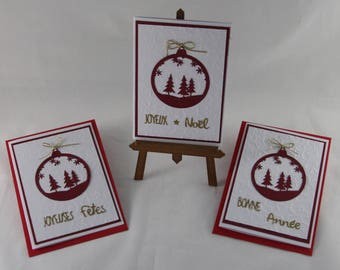 Set of 3 greeting cards