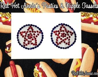 Pentacle Pentagram Occult Rhinestone Burlesque Tassel Pasties