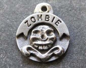 Dog Tag Custom Pet ID Tag Gothic Skull Dog ID Tag Hand Stamped Tag