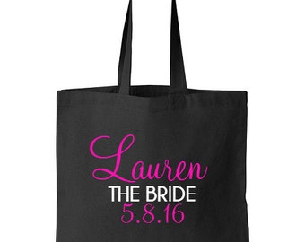 Personalized Bride Tote Bag, Bride to be, Bridal shower gift, Bride tote bag
