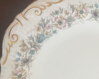 Paragon Meadowvale Handled Tea Party Sandwich Cake Plate Vintage Lovely Great Condition England Made Fine Bone China Porcelain