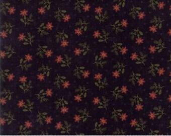 Moda Thistle Farm Toad Lily Black Floral Kansas Troubles  #9531 19