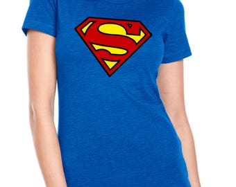 Supergirl Next Level Ladies' CVC Crew Neck Slightly Heathered T-Shirt in Sizes XS-3XL
