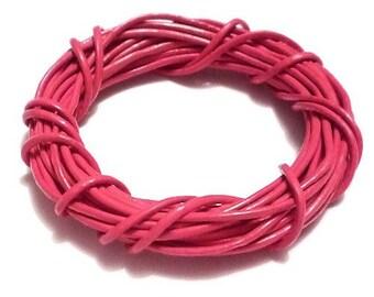 O1.5mm dark pink leather cord (1 M)