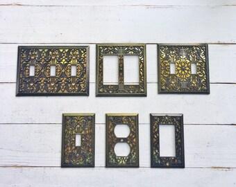 Light Switch Plates, Light Switchplates, Switch, Lightswitch Cover, Light Switch Cover Plates, Shabby Chic, Light Switch Wall Plate Cover