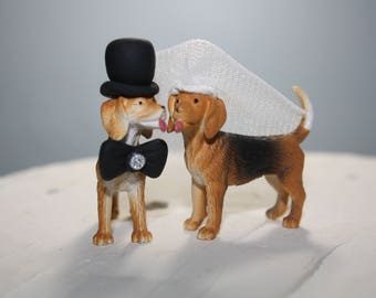 Beagle Cake Topper; Small Dog Cake Topper; Funny Cake Topper; Wedding Cake Topper; Country Wedding; Wedding Cake Decor; Custom; Personalized