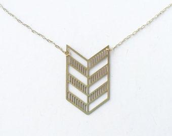 Geometric Chevron Necklace | ATL-N-128