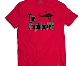 The Crop Blocker - Red T-SHIRT