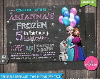 Frozen invitation etsy frozen invitation 85 off instant download printable disney frozen birthday invitation solutioingenieria Image collections