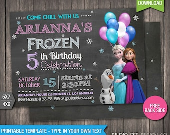 Frozen Invitation - 85% OFF - INSTANT DOWNLOAD - Printable Disney Frozen Birthday Invitation - DiY Personalize & Print - fr257