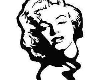 marilyn monroe svg etsy rh etsy com  marilyn monroe black and white clipart