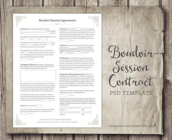 Boudoir Session Client Agreement Form Template Business Form