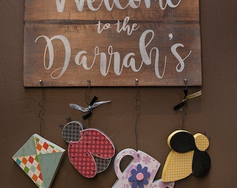 Custom/Gift/May hanger kit/hanger kit/welcome sign kit/interchangeable/holiday decor/ladybug/bee/kite/may/water can/personalized/
