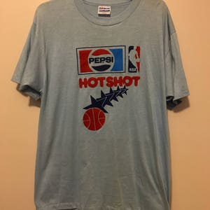 Pepsi NBA Hotshots vintage 80's shirt - XL - 50/50 made in USA