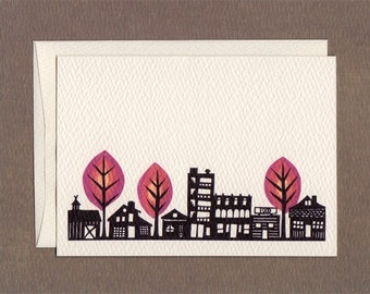 Small Town - Notecard