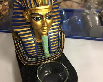 Unique  Egyptian King  Tut Candle  Holder