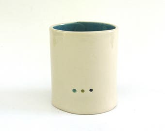 wonderful whimsical  vessel   ...  3 dot pot  ...  modern ... minimal