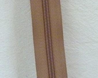 Zippers by the Yard 3 mm zipper chain beige 5 yards