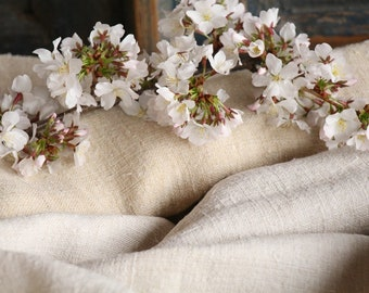 S 26: antique, upholstering fabric,  2.8 y,TWO-TONED, linen by the yard, vintage fabric, handloomed biological fabric