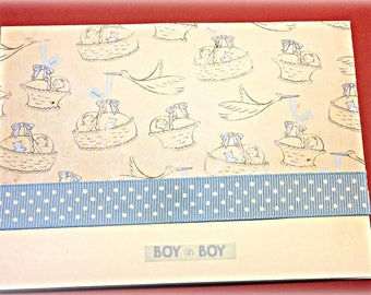 Baby Boy Card and Gift Tag set
