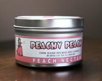 Peachy Peach | 8 oz Super Mario Candle | Peach Nectar