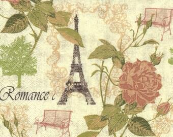 255 PARIS ROMANCE 1 lunch size napkin