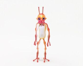 Posable Alien, Posable Art Doll, Bendy Doll, Paper Clay Doll, monster art doll, Yokai, Oni, Sci Fi, Star Wars inspired, Action figure