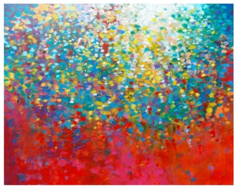 Colorful Wall Art, Impressionist Painting, Original Abstract Painting, Abstract Canvas Painting, Abstract Acrylic Painting, Rainbow Art