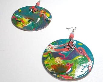 Nature's Glory Handpainted Wood Earrings