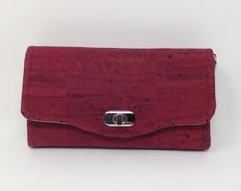 Wine Color Cork Necessary Clutch Wallet