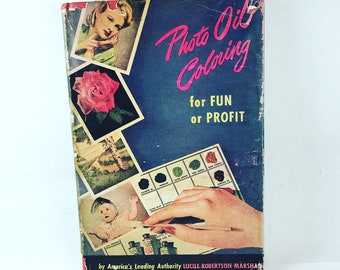 Vintage Photo Oil Coloring Book