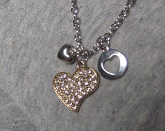 Cyrstal heart necklace