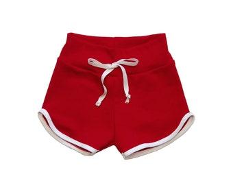 Red Retro Shorts - Baby shorts - Toddler shorts - Baby shorts - Baby Vintage shorts - Baby bloomers - Toddler clothes - Vintage Toddler
