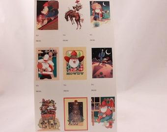 Hallmark Christmas Gift Tags. 4 Sheets per Order. Country Santa