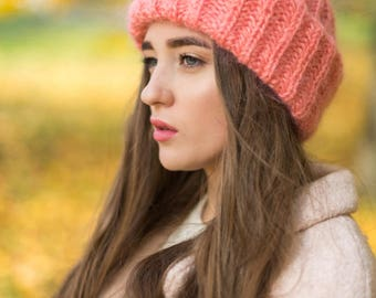 Mohair winer knit hat
