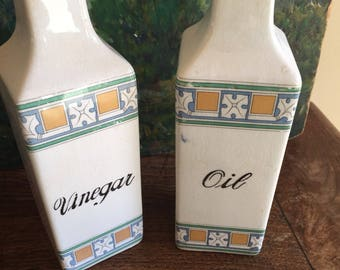 Antique oil and vinegar cruets vases