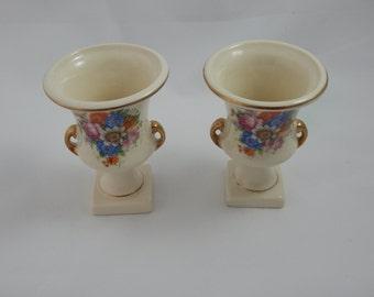 Vintage Two Ceramic Small Vases